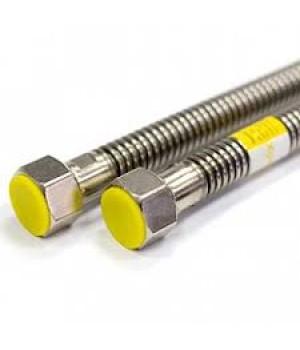 """Газовый шланг (трубка) гибкий TUBOFLEX 1/2"""" 0,6 м (нерж)(гайка-штуцер)"""